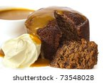 Sticky Date Pudding Topped Wit...