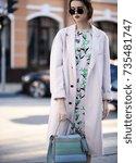 fashion photo  street style... | Shutterstock . vector #735481747