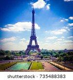 eiffel tower paris france | Shutterstock . vector #735488383