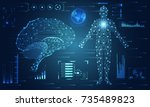abstract technology ui... | Shutterstock .eps vector #735489823
