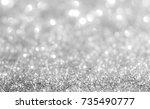 bokeh silver and white... | Shutterstock . vector #735490777