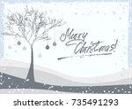 grunge retro style greeting... | Shutterstock .eps vector #735491293
