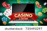 online casino vector. banner...