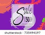 sale advertisement banner on...
