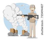 illustration of military...