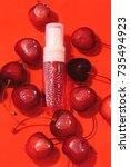 micellar water. micellar... | Shutterstock . vector #735494923