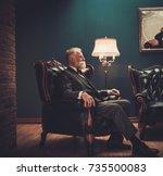 Senior Man In Luxury Interior