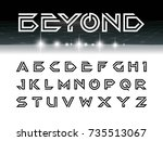 vector of futuristic font and... | Shutterstock .eps vector #735513067