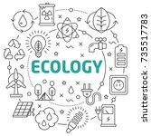 ecology linear illustration | Shutterstock .eps vector #735517783