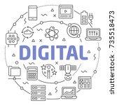 digital linear illustration