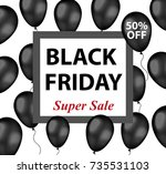 black friday promotional flyer  ... | Shutterstock .eps vector #735531103