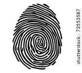 black fingerprint shape. secure ... | Shutterstock .eps vector #73553587