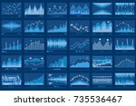 business data report financial... | Shutterstock .eps vector #735536467