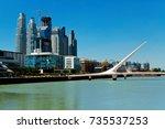 view of puente de la mujer... | Shutterstock . vector #735537253
