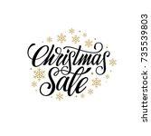 christmas sale design template. ... | Shutterstock .eps vector #735539803