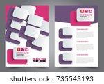 business flyer design template. ... | Shutterstock .eps vector #735543193