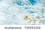 fantastic winter landscape and... | Shutterstock . vector #735552103