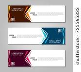 vector abstract design banner... | Shutterstock .eps vector #735565333