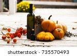 halloween background. a lot of...   Shutterstock . vector #735570493