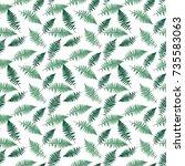 fern leaf  fern leaf  seamless...   Shutterstock . vector #735583063