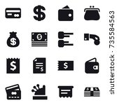 16 vector icon set   card ... | Shutterstock .eps vector #735584563