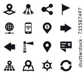 16 vector icon set   pointer ... | Shutterstock .eps vector #735587497