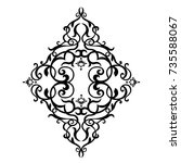 black vintage ornament  baroque ... | Shutterstock .eps vector #735588067