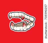 vampire's teeth icon isolated...