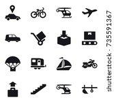 16 vector icon set   car... | Shutterstock .eps vector #735591367