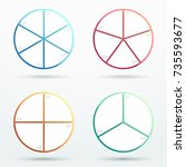 infographic business segments... | Shutterstock .eps vector #735593677