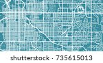 detailed vector map of lincoln  ... | Shutterstock .eps vector #735615013