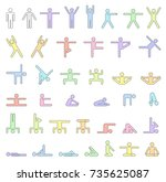 pictograms which represent... | Shutterstock .eps vector #735625087