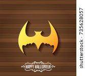 vector halloween golden bat... | Shutterstock .eps vector #735628057