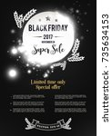 black friday sale poster ads.... | Shutterstock .eps vector #735634153