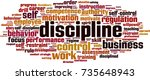 discipline word cloud concept.... | Shutterstock .eps vector #735648943