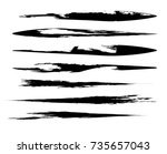grunge paint stripe . vector... | Shutterstock .eps vector #735657043