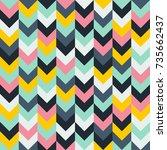 chevron zigzag pattern seamless ...   Shutterstock .eps vector #735662437