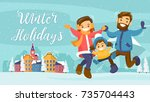 christmas and new year inspired ... | Shutterstock .eps vector #735704443