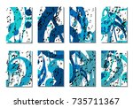 musical backgrounds for posters.... | Shutterstock .eps vector #735711367