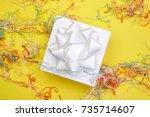 a studio photo of a gift... | Shutterstock . vector #735714607