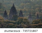 Small photo of Prambanan temple from far