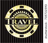 travel gold badge or emblem