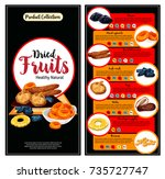 dried fruit  superfood... | Shutterstock .eps vector #735727747