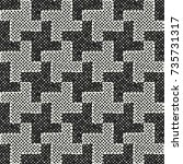 abstract mottled check.... | Shutterstock .eps vector #735731317