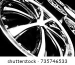 close up of rim  new car alloy... | Shutterstock . vector #735746533