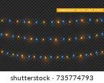 christmas lights isolated... | Shutterstock .eps vector #735774793