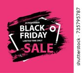 black friday sale grunge poster ...   Shutterstock .eps vector #735795787