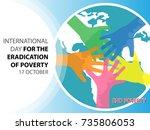 international day for the... | Shutterstock .eps vector #735806053