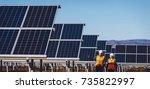 solar power station | Shutterstock . vector #735822997