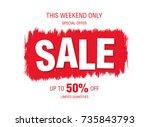 sale banner layout design   Shutterstock .eps vector #735843793